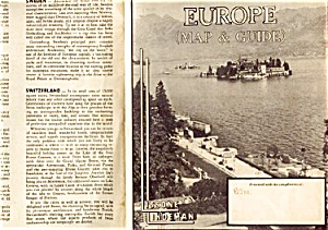 Vintage Lis-lind Europe Map, Guide