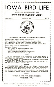 Iowa Bird Life, Ornithology Union Journal (Image1)