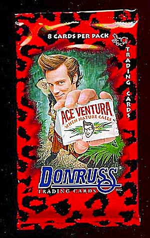 1995 Donruss Ace Ventura Cards, 15 Unopened Packs, Jim Carey