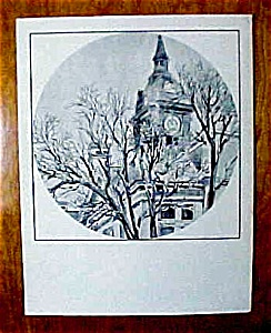 1970s Marshalltown, Iowa Courthouse Print (Image1)
