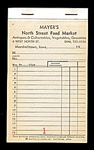 Vintage Grocery Store Account Book (Image1)