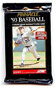 1993 Score PINNACLE Baseball Cards, Series 1, 23 UNOPENED PACKS (Image1)