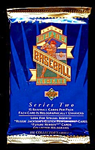 1993 UPPER DECK Baseball Cards, Series TWO, 14 Unopened Packs  (Image1)