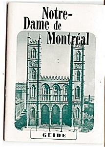 1950s Notre-Dame de Montreal Guide (Image1)