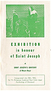 Saint Joseph's Oratory Exhibition, Quebec