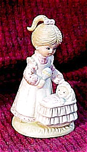 Enesco Figurine, Baby in Bassinet (Image1)
