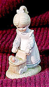 Enesco Figurine, Wicker Doll Buggy (Image1)