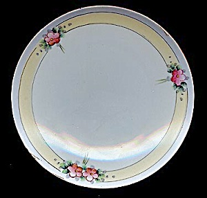 Lovely Hand-painted Floral Meito Plate