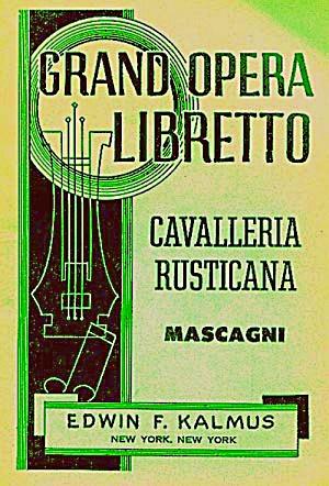 Vintage CAVALLERIA RUSTICANA Grand Opera (Image1)