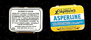 Vintage Pocket Tin, ASPERLINE Tablets, 1950s-60s (Image1)