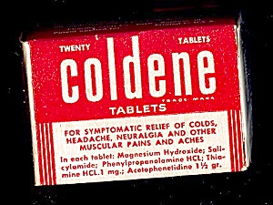 Coldene Cold Tablets, 1960s (Image1)
