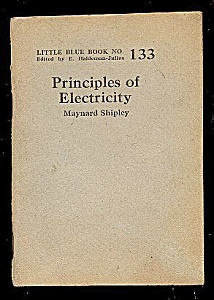 1925 Principles of Electricity Blue Book (Image1)