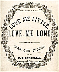 Love Me Little, Love Me Long (Image1)