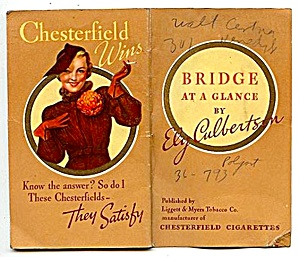 Chesterfield Cigarettes Bridge Guide, 1936 (Image1)