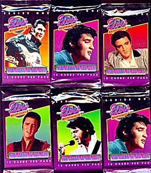 1992 Elvis Collection Series I Trading Cards, 4 Mip Packs