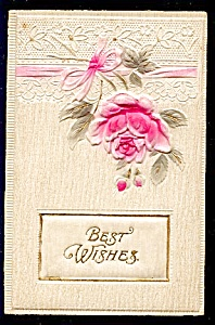 Lovely Padded Best Wishes Rose, Lace (Image1)