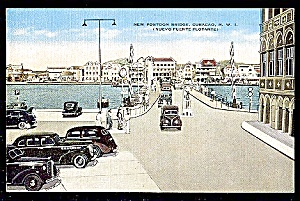 CURACAO N.W.I. New Pontoon Bridge, Autos (Image1)