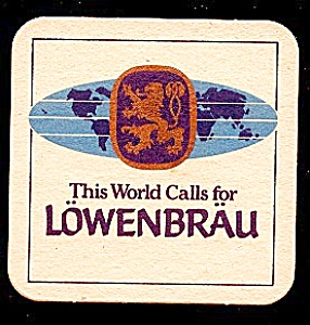 LOWENBRAU Beer Coaster (Image1)