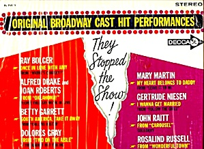 SHOW STOPPERS: Original Broadway Casts (Image1)