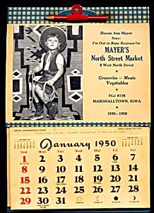 1950 Mayer�s Market Ad Calendar (Image1)