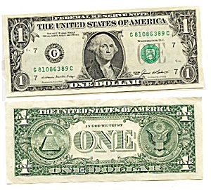 1985 Series $1 U.S. Fed Reserve Note, Hard-to-Find!  (Image1)