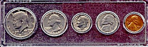 1971 5-coin Set In Plastic Holder