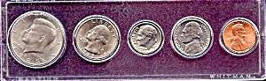 1985 5-coin Set In Plastic Holder