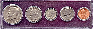 1980 5-Coin Set in Plastic Holder (Image1)