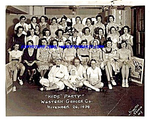 Jack Sprat, Western Grocer Photo, 1934 Marshalltown Kids Party  (Image1)