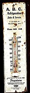 Abc Refrigeration Thermometer, Marshalltown Iowa Advertising