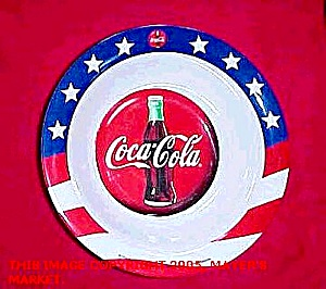 Coca-cola Stars, Stripes Bowl And Dinner Plate