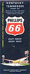 Phillips 66 Highway Map:  KENTUCKY, TENNESSEE (Image1)
