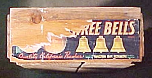 Another Vintage 3 Bells CA Peach Crate! (Image1)
