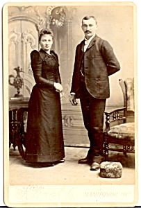 Vintage Cabinet Card Photo: Wedding Picture? Neat Furniture/manitowoc