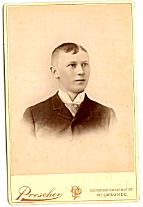 Vintage Cabinet Photo: Young Man, Neat Hair Milwaukee