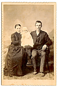 Vintage Cabinet Photo: Parents, First Child, Manitowoc