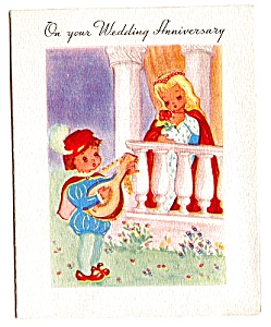 WWII Era Wedding Anniversary Card (Image1)