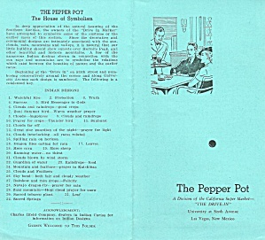 The Pepper Pot Vintage Restaurant Menu 1930s Las Vegas NM (Image1)