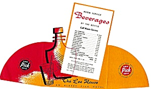 The Lee House Room Service Beverages Menu 1956