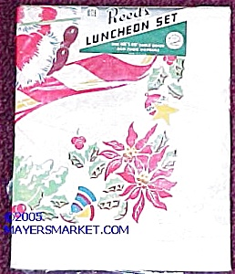 1940s Holiday Luncheon Tablecloth Set, Mip