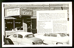 Iowa Restaurant: Canary Cottage Café, Oskaloosa, Real Photo