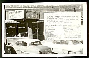 IOWA RESTAURANT: Canary Cottage Café, Oskaloosa, Real Photo (Image1)