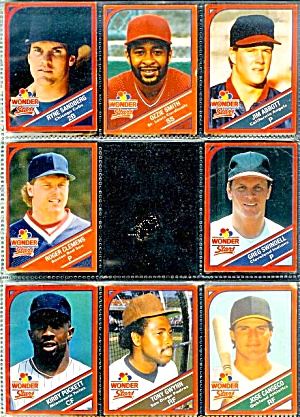 1990 Wonder Bread Stars Baseball Cards, Lot Of 8 Cards