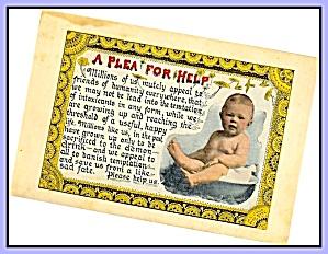 Plea for Help – Baby,  Prohibition Postcard (Image1)