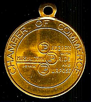 50th Anniv. Key Chain/Fob: Marshalltown IA Chamber of Commerce (Image1)