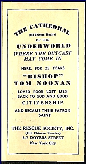 Cathedral of Underworld, NY Chinatown, 1930s Charity (Image1)