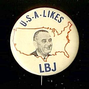 LBJ Presidential Campaign Pinback, 1964 (Image1)