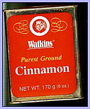 Large Watkins Cinnamon Tin