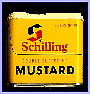 Schilling Double Mustard Tin, 1970s (Image1)