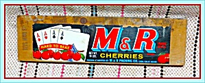Original 1960s Fruit Crate Box End And Label, Lodi Cherries